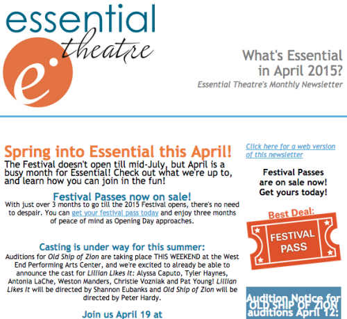 What's Essential in April 2015?