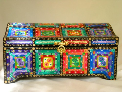 iconic Painted MoJo treasure chest