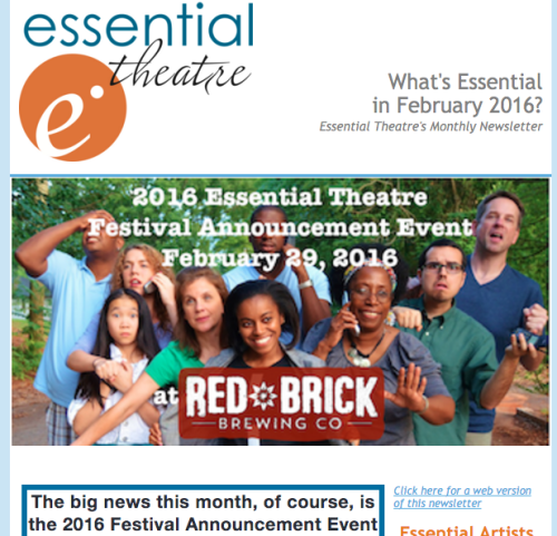 What s essential in february 2016 essential theatre