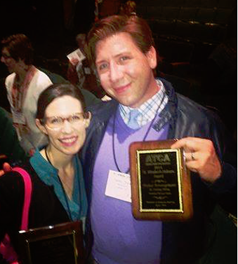 Essential Theatre Playwriting Award Winners Lauren Gunderson and Topher Payne